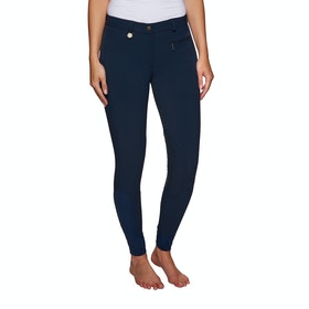 Derby House Pro Gel Knee Patch Ladies Riding Breeches - Navy