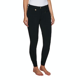 Derby House Pro Gel Knee Patch Ladies Riding Breeches - Black