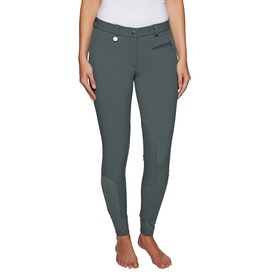 Derby House Pro Gel Knee Patch Ladies Riding Breeches - Grey