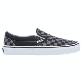 Vans Classic Slip On Trainers - Black Pewter Checkerboard