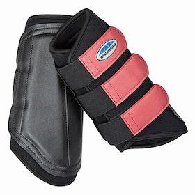 Weatherbeeta Single Lock Brushing Boot - Black Paradise Pink