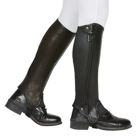 Dublin Evolution Side Zip Half Chaps - Black