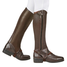 Dublin Evolution Side Zip Half Chaps - Brown