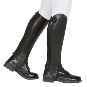 Dublin Evolution Rear Zip Half Chaps - Black