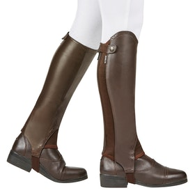 Dublin Evolution Rear Zip Half Chaps - Brown