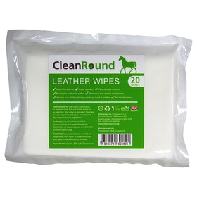 Cleanround Leather Wipes Leathercare - White