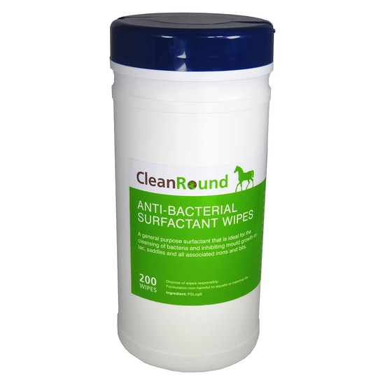 Cleanround Anti Bacterial Surfactant Wipes Cleaning