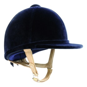 Charles Owen H2000 Velvet Hat - navy/flesh