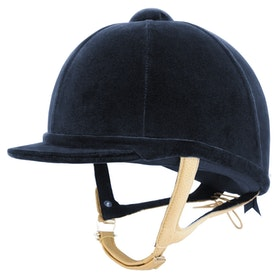 Charles Owen Showjumper XP Velvet Hat - Navy