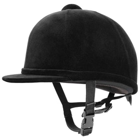 Charles Owen Young Rider Kids Velvet Hat - Black