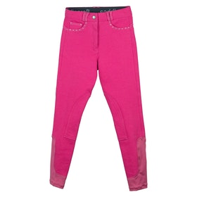 Riding Breeches Enfant Saddle Craft Sparkly Contrast - Pink