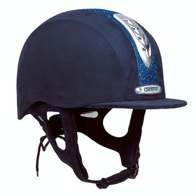 Champion Junior X-Air Dazzle Plus Childrens Riding Hat - navy