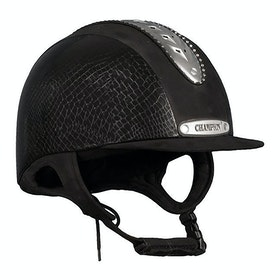 Champion Evolution Couture Riding Hat - Black Mock Croc