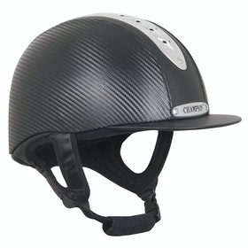 Champion Evolution Pro Riding Hat - Black Carbon
