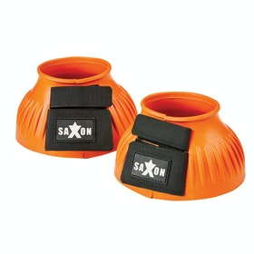Saxon Ribbed Touch Tape Bell Over Reach Boots - Orange