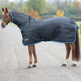 Shires Tempest 200g Combo Stable Rug - Black Turquoise