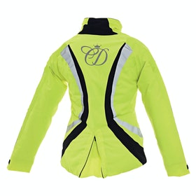 Equisafety Childs Charlotte Dujardin Volte II Waterproof Childrens Reflective Jacket - Yellow