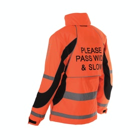 Equisafety Inverno Childrens Reflective Jacket - Red Orange