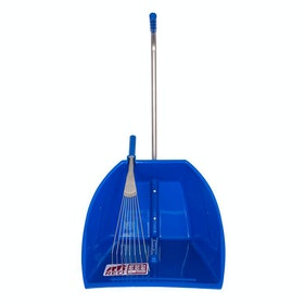 Red Gorilla Big Tidee and Rake Manure Scoop - Blue