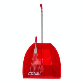 Red Gorilla Big Tidee and Rake Manure Scoop - Red