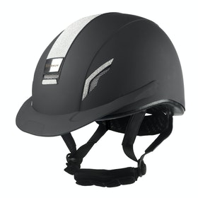 John Whitaker VX2 Sparkly Riding Hat - Black
