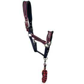John Whitaker Leadrope & Waffle Head Collar - Navy