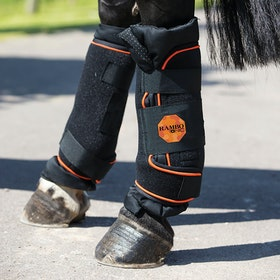 Rambo Ionic Therapy Horse Boot - Black Orange
