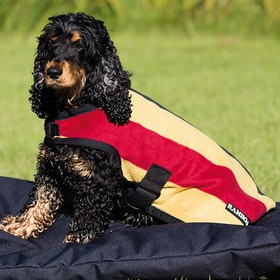 Rambo Deluxe Dog Jacket - Whitney Stripe Gold