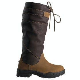 Brogini Derbyshire Fur Lined Kids Country Boots - Brown