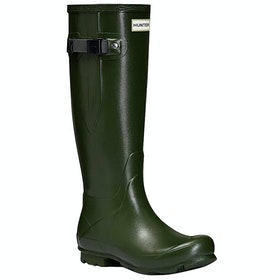 Hunter Norris Field Side Adjustable Ladies Wellingtons - Vintage Green