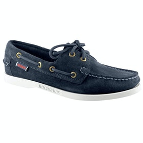 Sebago Docksides Ladies Dress Shoes - Blue Navy Suede