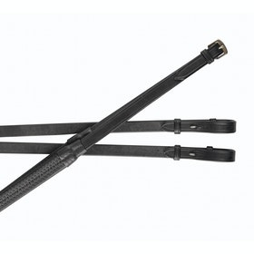 Collegiate IV Rubber Reins - Black