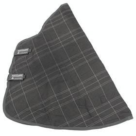 Rhino Original 150G Stable Neck Cover - Charcoal Grey White Check Charcoal