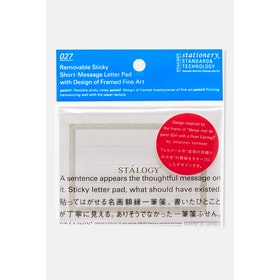 Stalogy Removable Sticky Short Message Letter C Book - Clear