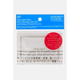 Stalogy Removable Sticky Short Message Letter D Book - Clear