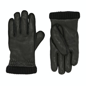 Hestra Deerskin Primaloft Rib Gloves - Black