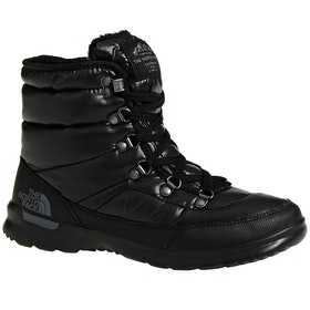 North Face Thermoball Lace II Ladies Boots - Shiny TBF Black Iron Gate Grey