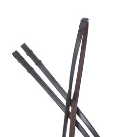 Collegiate IV One Sided Rubber Reins - Brown