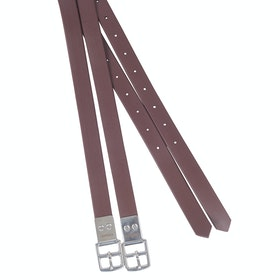 Collegiate Synthetic Stirrup Leathers - Brown