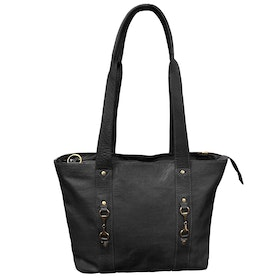 Grays The Jessica Tote Black Fine Leather Ladies Shopper Bag - Black