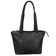 Grays The Jessica Tote Black Fine Leather Indkøbstaske
