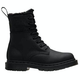 Dr Martens 1460 Kolbert Snowplow Waxy Suede Ladies Boots - Black