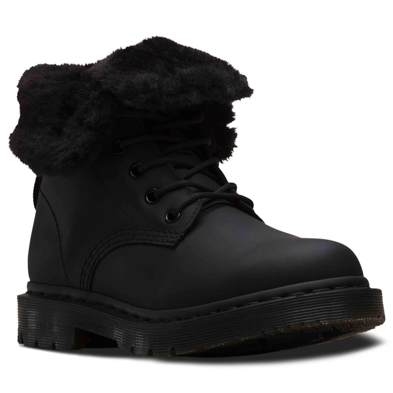 Dr Martens 1460 Kolbert Black Water Resistant Snowplow Waxy Leather Boots