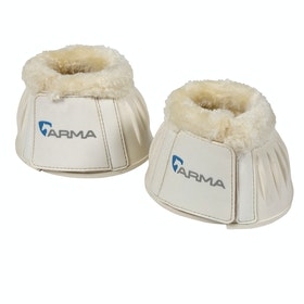 Shires Fleece Topped Over Reach Boots - White