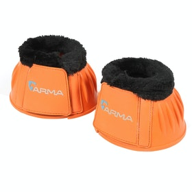 Shires Fleece Topped Over Reach Boots - Orange