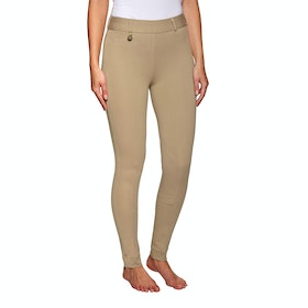 Derby House Classic Pull On Ladies Riding Tights - Beige