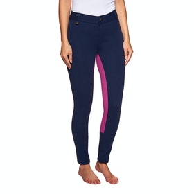 Derby House Classic Two Tone Ladies Jodhpurs - Navy Pink