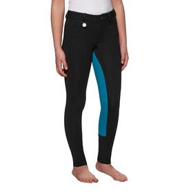 Derby House Two Tone Childrens Jodhpurs - Black Turquoise