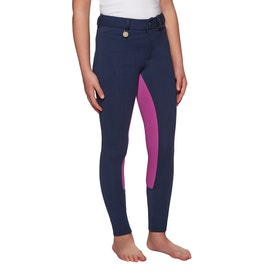 Derby House Two Tone Childrens Jodhpurs - Navy Pink