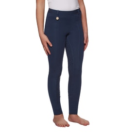 Derby House Gel Full Seat Childrens Riding Tights - Navy